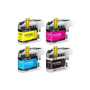 Compatible Brother LC103 XL ink cartridges, High Yield, 4 pack