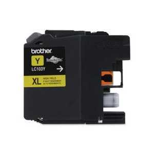 Original Brother LC103Y XL Yellow ink cartridge, High Yield