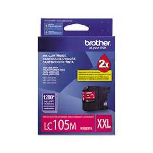 Original Brother LC105M XXL Magenta ink cartridge, Super High Yield