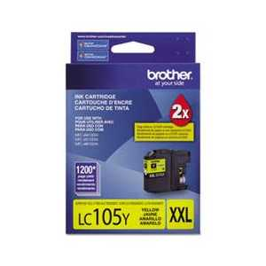 Original Brother LC105Y XXL Yellow ink cartridge, Super High Yield
