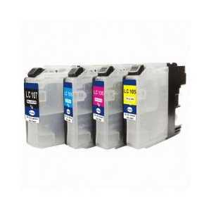 Compatible Brother LC107, LC105 XXL ink cartridges, Super High Yield, 4 pack