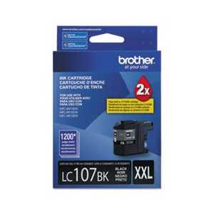 Original Brother LC107BK XXL Black ink cartridge, Super High Yield