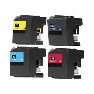 Compatible Brother LC10E XXL ink cartridges, Super High Yield, 4 pack