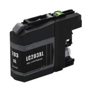 Compatible Brother LC203BK XL Black ink cartridge, High Yield