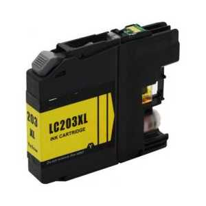 Compatible Brother LC203Y XL Yellow ink cartridge, High Yield