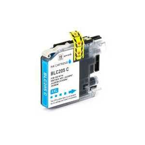 Compatible Brother LC205C XXL Cyan ink cartridge, Super High Yield