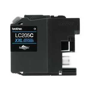 Original Brother LC205C XXL Cyan ink cartridge, Super High Yield