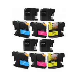 Compatible Brother LC207, LC205 XXL ink cartridges - Super High Yield - 10 pack