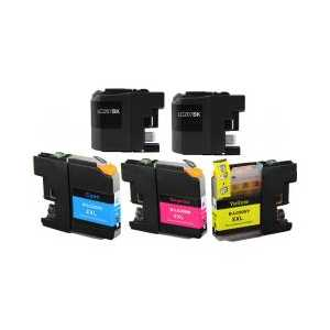 Compatible Brother LC207, LC205 XXL ink cartridges - Super High Yield - 5 pack