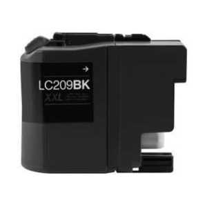 Compatible Brother LC209BK XXL Black ink cartridge, Super High Yield