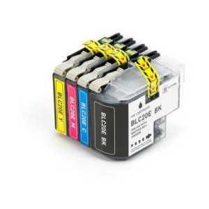 Compatible Brother LC20E XXL ink cartridges, Super High Yield, 4 pack