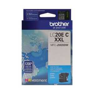 Original Brother LC20EC Cyan ink cartridge, Super High Yield
