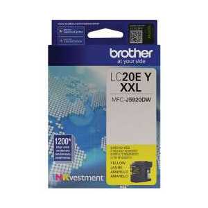 Original Brother LC20EY Yellow ink cartridge, Super High Yield