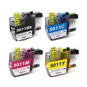 Compatible Brother LC3011 XL ink cartridges, 4 pack