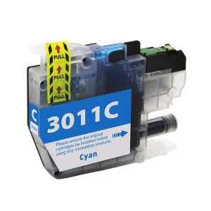 Compatible Brother LC3011C Cyan ink cartridge