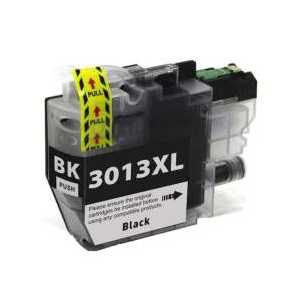 Compatible Brother LC3013BK XL Black ink cartridge, High Yield