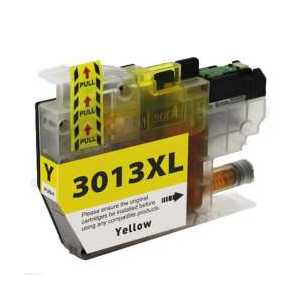 Compatible Brother LC3013Y XL Yellow ink cartridge, High Yield