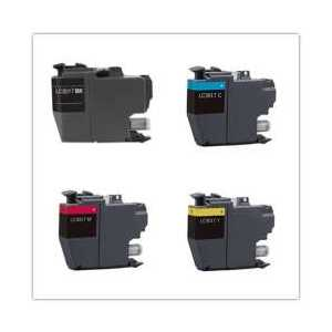 Compatible Brother LC3017 XL ink cartridges, High Yield, 4 pack