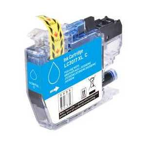 Compatible Brother LC3017C XL Cyan ink cartridge, High Yield