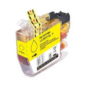 Compatible Brother LC3017Y XL Yellow ink cartridge, High Yield