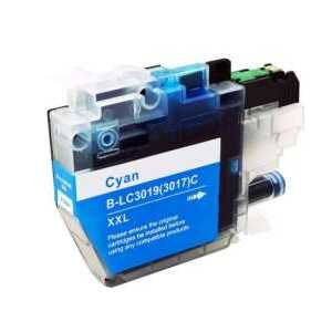 Compatible Brother LC3019C XXL Cyan ink cartridge, Super High Yield