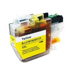Compatible Brother LC3019Y XXL Yellow ink cartridge, Super High Yield