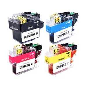 Compatible Brother LC3029 XXL ink cartridges, Super High Yield, 4 pack