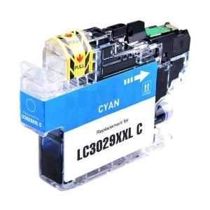 Compatible Brother LC3029C XXL Cyan ink cartridge, Super High Yield