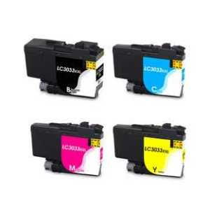 Compatible Brother LC3033 XXL ink cartridges, Super High Yield, 4 pack