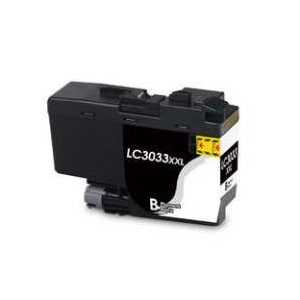 Compatible Brother LC3033BK XXL Black ink cartridge, Super High Yield