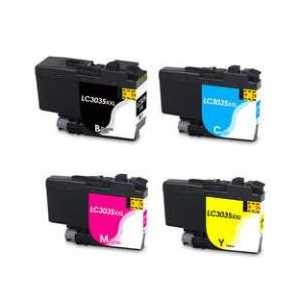 Compatible Brother LC3035 XXL ink cartridges, Ultra High Yield, 4 pack