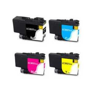 Compatible Brother LC3037 XXL ink cartridges, Super High Yield, 4 pack