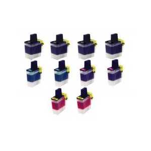 Compatible Brother LC41 ink cartridges, 10 pack