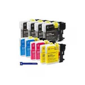 Compatible Brother LC65 ink cartridges, High Yield, 10 pack