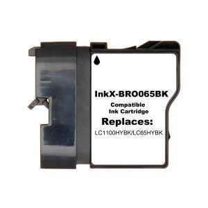Compatible Brother LC65HYBK Black ink cartridge, High Yield