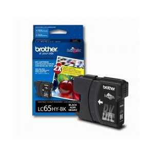 Original Brother LC65HYBK Black ink cartridge, High Yield