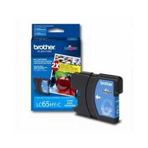 Original Brother LC65HYC Cyan ink cartridge, High Yield