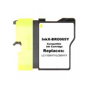Compatible Brother LC65HYY Yellow ink cartridge, High Yield