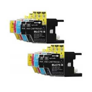 Compatible Brother LC75 ink cartridges, High Yield, 10 pack