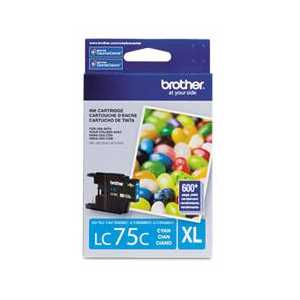 Original Brother LC75C Cyan ink cartridge, High Yield
