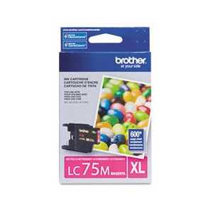 Original Brother LC75M Magenta ink cartridge, High Yield