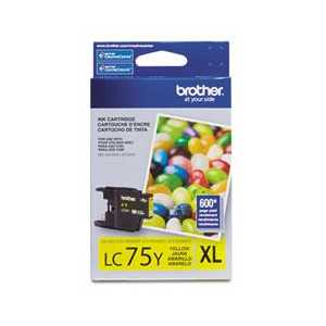 Original Brother LC75Y Yellow ink cartridge, High Yield