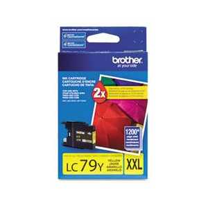 Original Brother LC79Y Yellow ink cartridge, Super High Yield