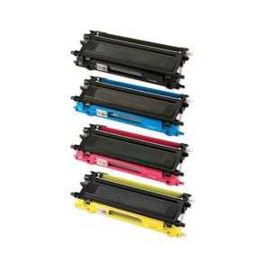 Compatible Brother TN210 toner cartridges, 4 pack