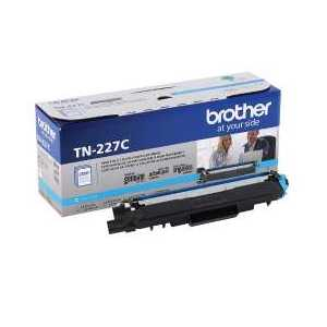 Original Brother TN227C Cyan toner cartridge, 2300 pages