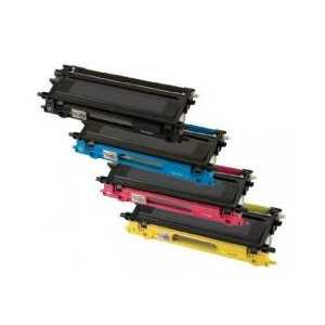 Brother TN315BK, TN315C, TN315M, TN315Y High Capacity compatible toner cartridges - 4 pack