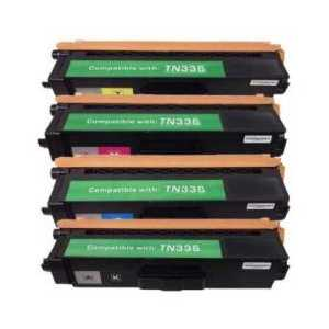 Compatible Brother TN336 toner cartridges, High Yield, 4 pack