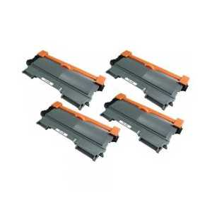 Brother TN450 Black High Capacity compatible toner cartridges - 4 pack