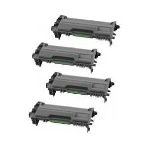 Compatible Brother TN880 toner cartridges, Super High Yield, 4 pack