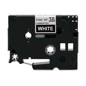 Compatible Brother TZe315 label tape for P-Touch - 6mm White on Black